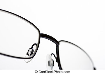 Close up image of eye glasses