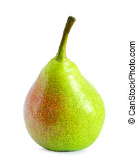 Fresh Ripe Pear Isolated on the White Background
