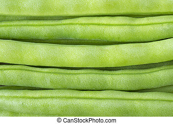 Close up image of green beans