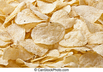 heap of fresh potato chips