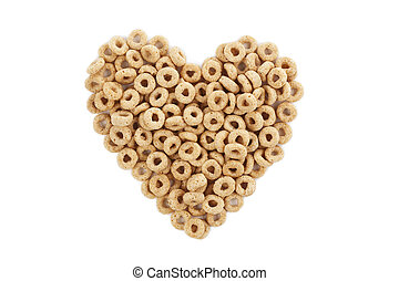 heart shape made of cereal