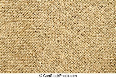 Close up image of  hessian sack