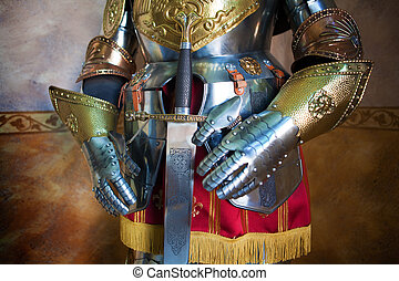 medieval armor - Close up image of medieval armor
