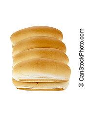 pieces of buns bread
