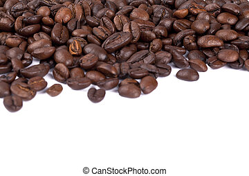 close up image of pile of coffee beans