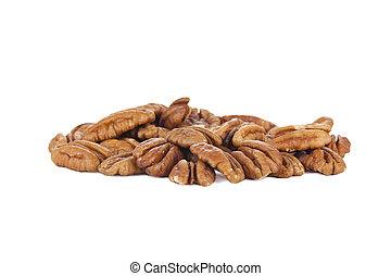 pile of pecan nuts