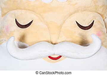 Close up image of Santa Clause face with beard