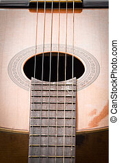 close up image of spanish guitar