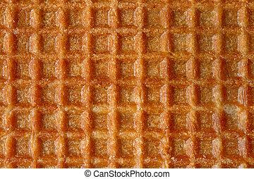 Close up image of sweet waffle