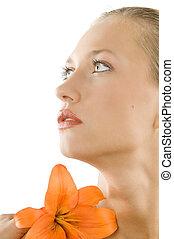 close up in orange