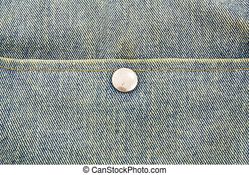 Close up jeans with button