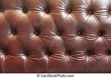 Close up leather sofa