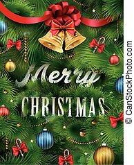 close-up look at Christmas tree