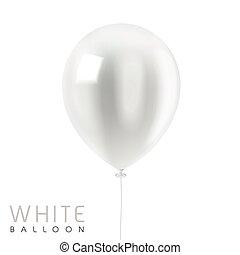 close up look at white balloon