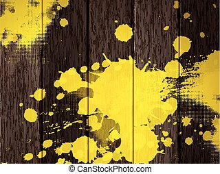 wooden texture background  with yellow stain