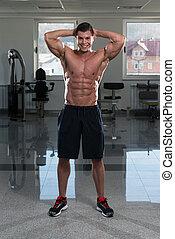 close-up, músculo,  abdominal
