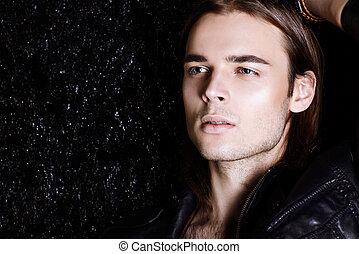 close-up male portrait