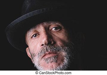 Close up man portrait