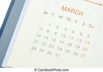 MARCH 2016 calendar.