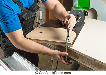Master clamps the workpiece with a dvp clamp to the...