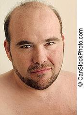 Close up mature man