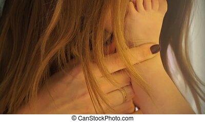 Close up, mom kissing baby feet