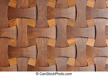 Close up nice shape of wooden, home wall decoration.