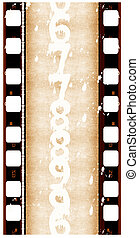 Close up of 16 mm Film roll