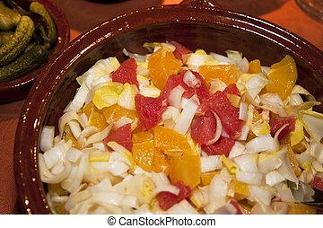 fruit salad - close up of a a fruit salad