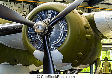 b-25 engine - close up of a b-25 engine. the soldier in the ...