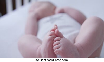 Close-up of a Baby's Feet