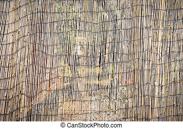 close up of a bamboo mat for backgrounds