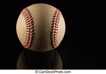 Close up of a baseball ball