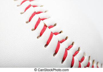Close up of a baseball