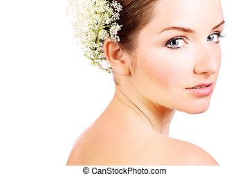 Close up of a beautiful bride - A close up of a beautiful...