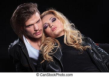 close up of a beautiful couple