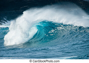ocean wave - close-up of a beautiful ocean wave
