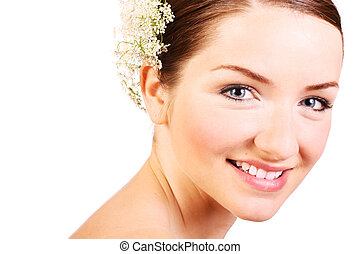 Close up of a beautiful smiling woman