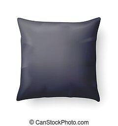 Pillow - Close Up of a Black Pillow Isolated on White...