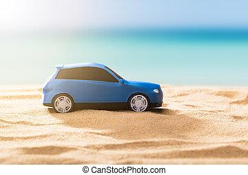 Close-up Of A Blue Car