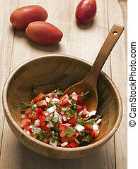 bowl of fresh salsa