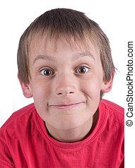 close up of a boy