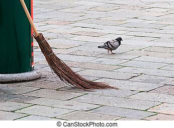 broom in the street