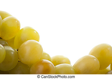 Close-up of a bunch of grapes on a white