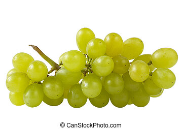 Close-up of a bunch of grapes (path isolated) - Bunch of...