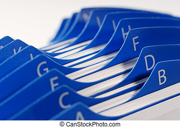 Business customer file directory business concept with a 3d business card holder colourmoves