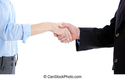 Close-up of a business people closing a deal