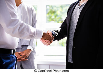 Businessman Shaking Hands With His Client