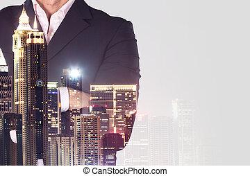 Businessman Standing Arm Crossed