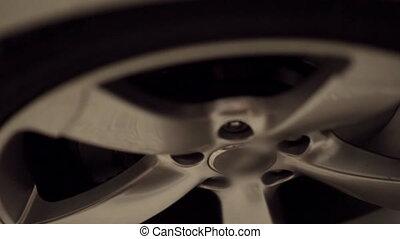 Close-up of a car tire
